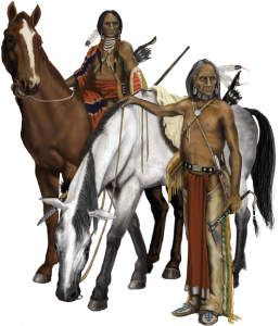 Horses with Comanche and Southern Plains Indians