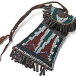 Comanche beaded pouch