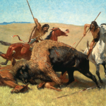 K Indians Buffalo Hunt painting